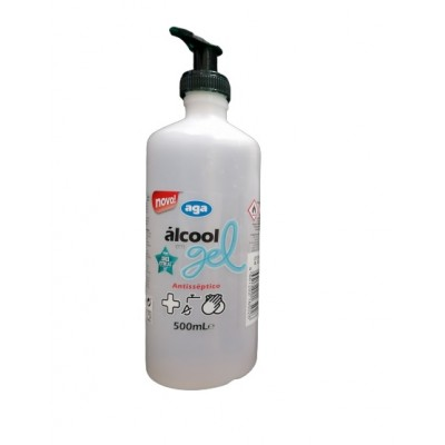 Alcool Gel 70º 500 ml c/ bomba