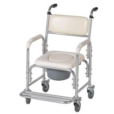 Cadeira banho e sanitária macia com rodas