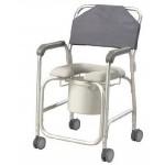 Cadeira banho e sanitária com rodas assento macio