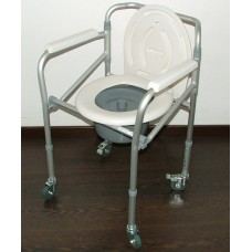 Cadeira banho e sanitária encartável com rodas