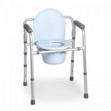 Cadeira banho sanitária Aluminio Encartável