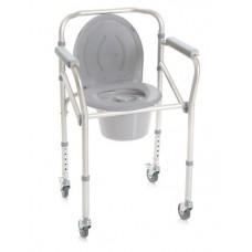 9caf8dbb5 Cadeira banho e sanitária encartável com rodas